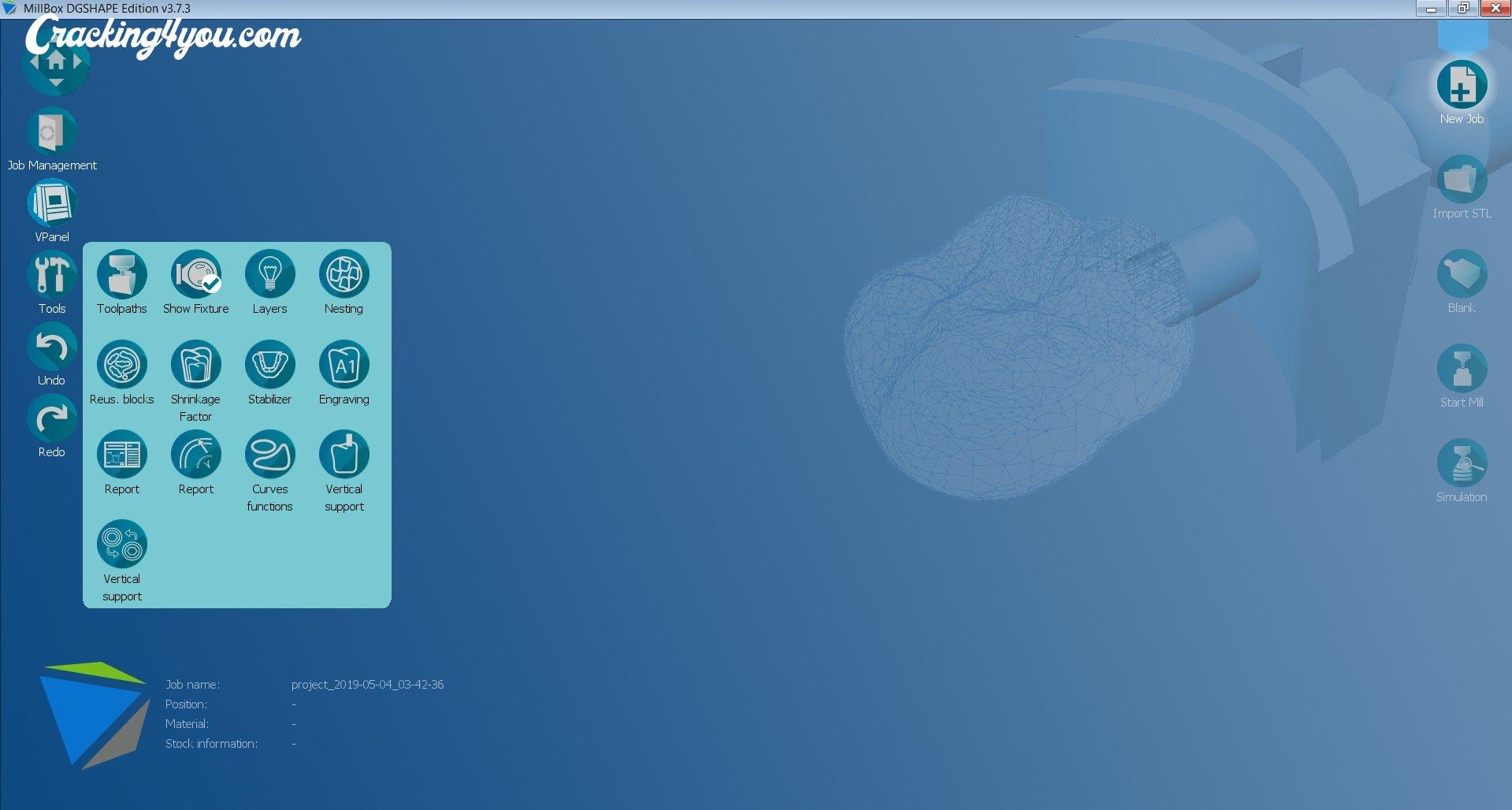 MillBox Sum3D (Crack) Dental CAM CIMsystem Milling Software
