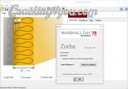 Zorba v3 0 (Cracked) Sound Absorption Prediction Software